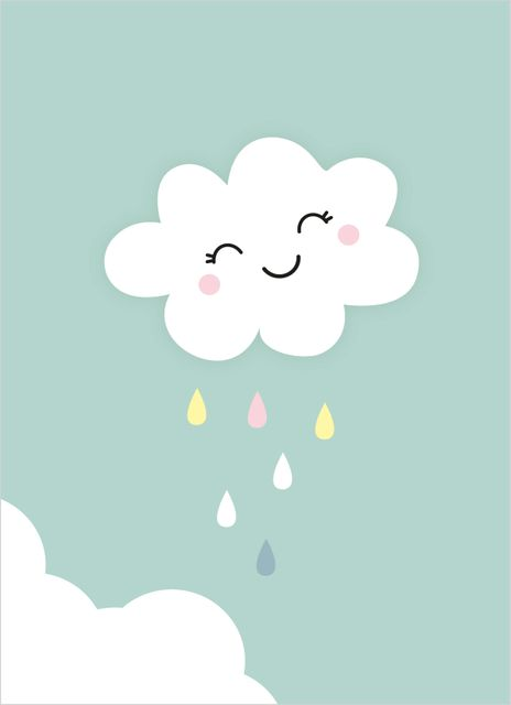 Smiling cloud poster