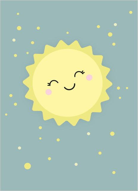 Smiling sun poster