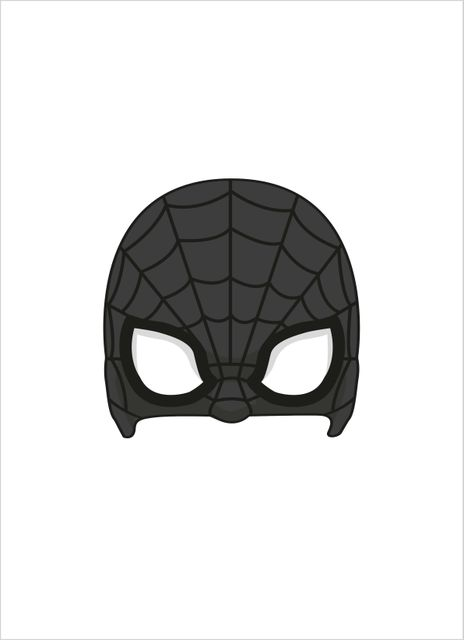 Superhero mask 1 poster