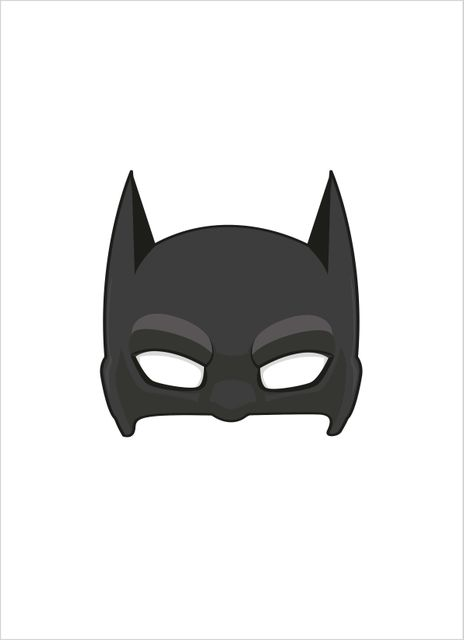 Superhero mask 2 poster