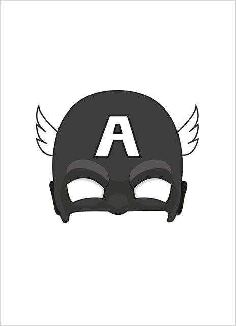 Superhero mask 3 poster