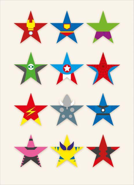 Superhjältar poster