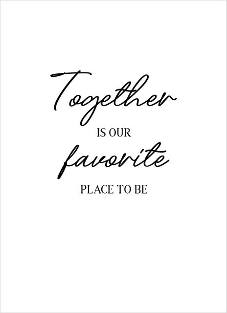 Together is our favorite text poster