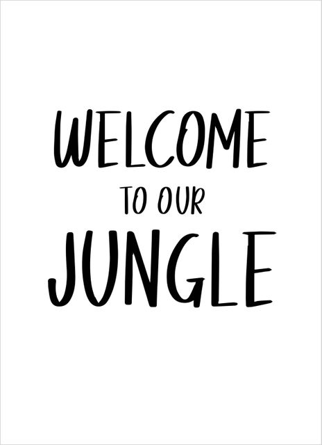 Welcome to our jungle text