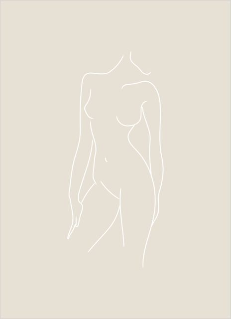 Woman body beige poster