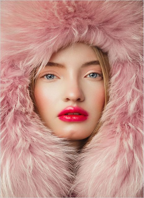 Woman in fur hat poster