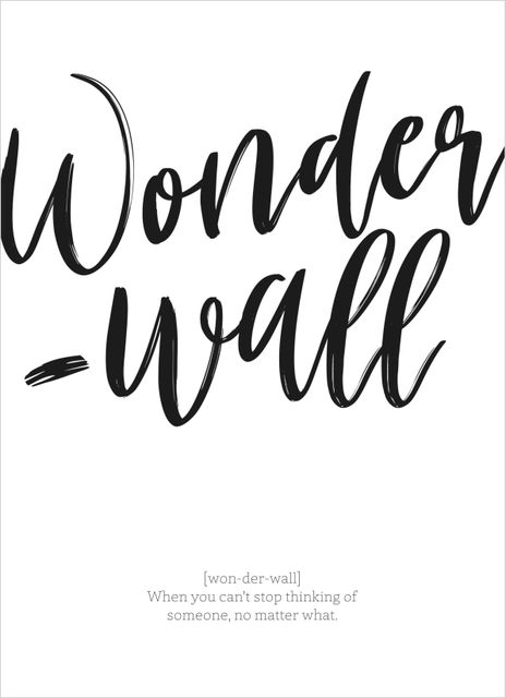 Wonderwall text poster
