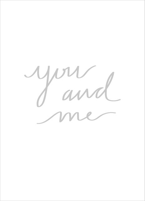 You and me grey text