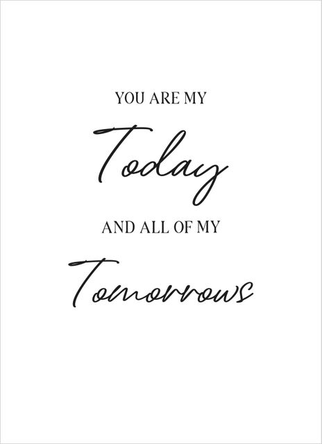 You are my today text