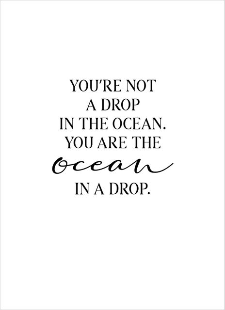 You are the ocean text poster