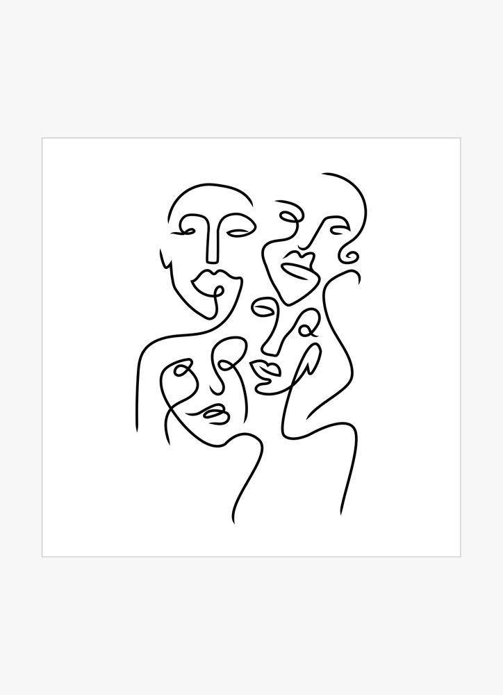 Ansikten abstrakt