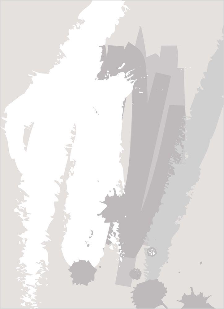 Abstrakt grå nr1 poster