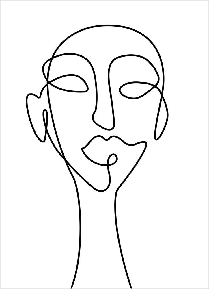 Abstrakt huvud poster