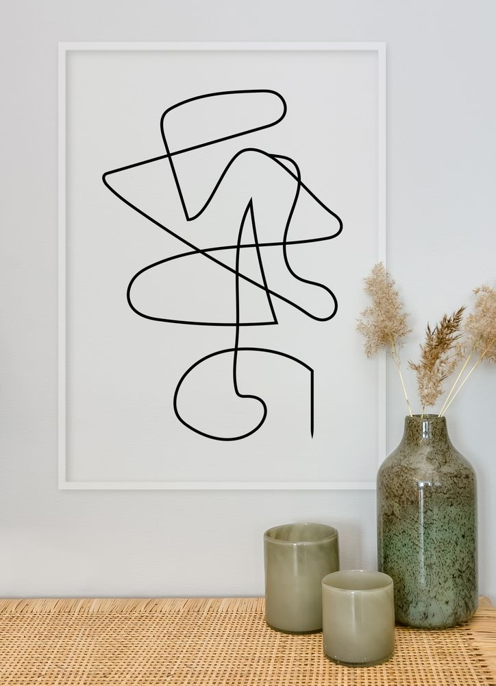 Abstract lines no1 poster