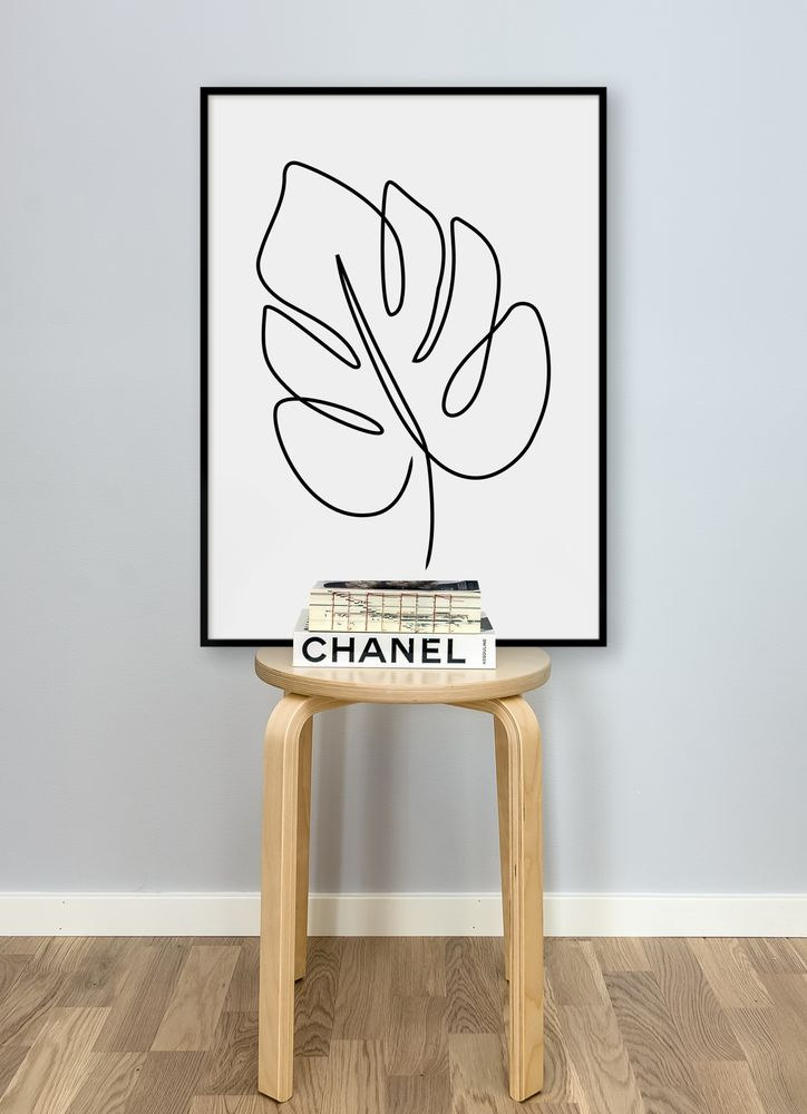 Abstrakt monstera poster