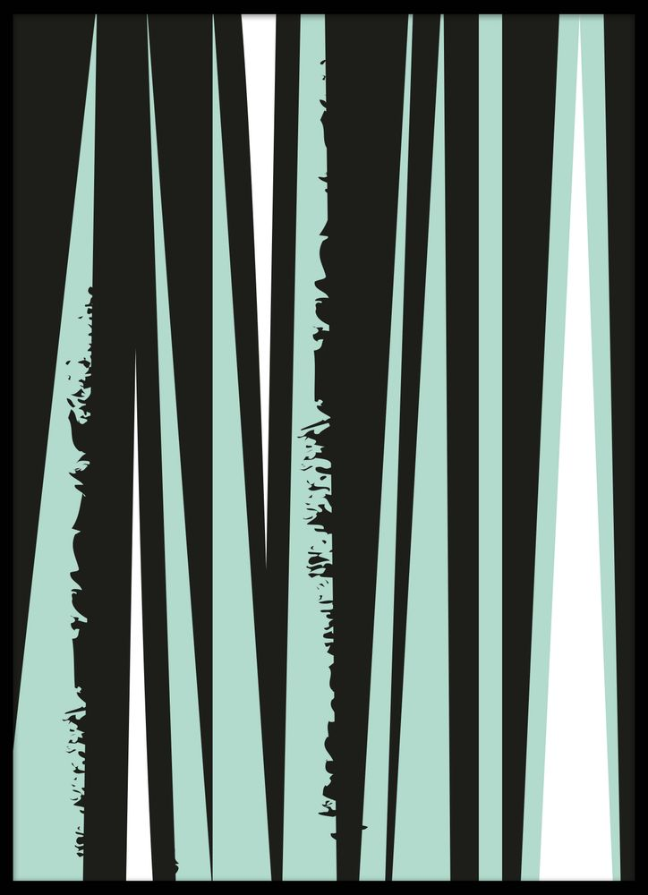 Abstract pattern green pastel no3 poster