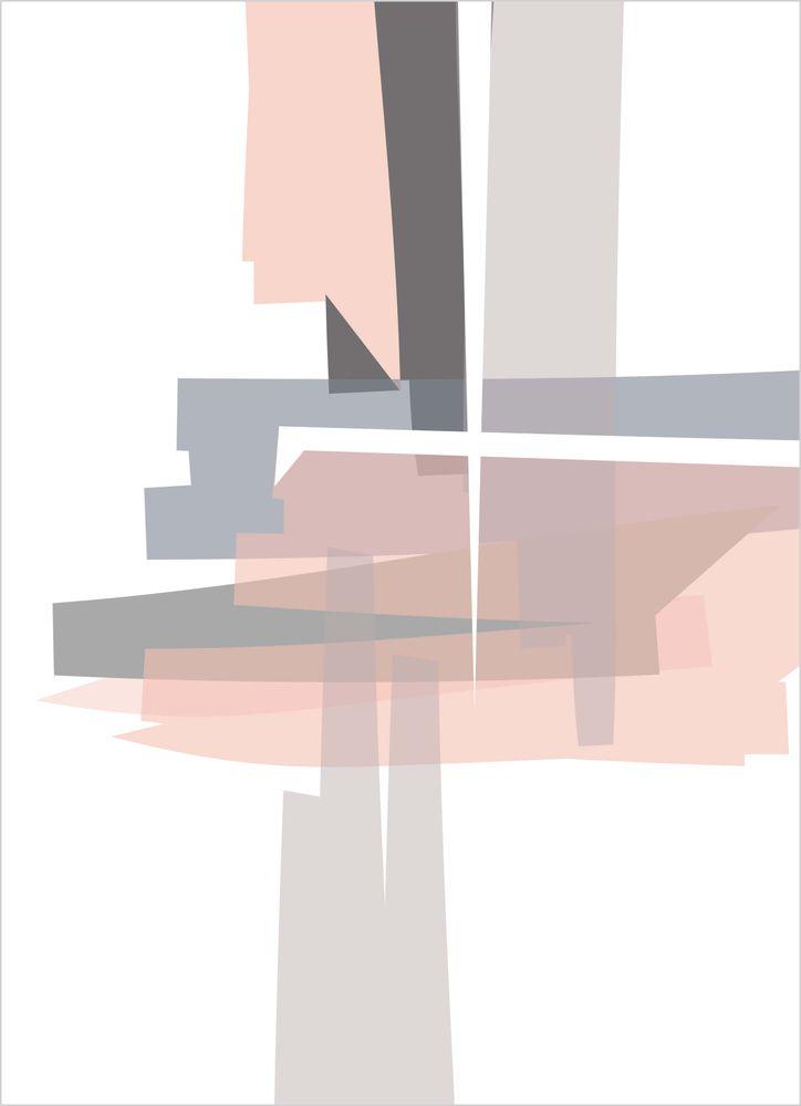 Abstrakt mönster rosa pastell nr1 poster