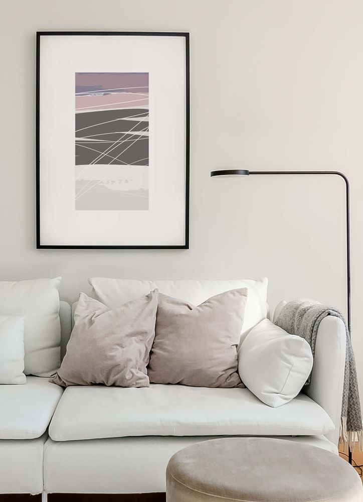 Abstract pattern pink pastel no2 poster