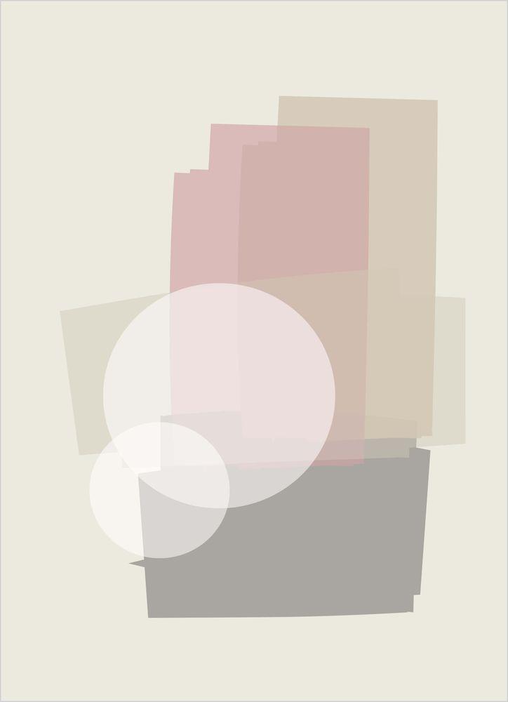 Abstrakt mönster rosa pastell nr3 poster