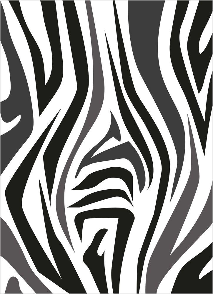 Abstrakt mönster zebra poster