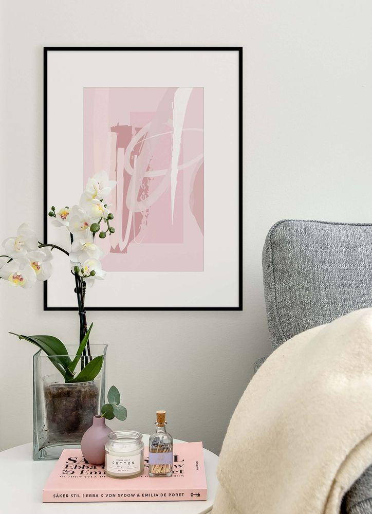 Abstrakt rosa nr3 poster