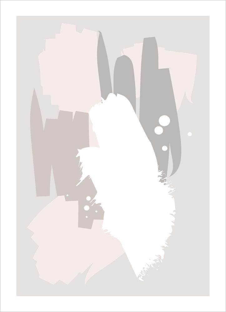Abstract pink nude poster