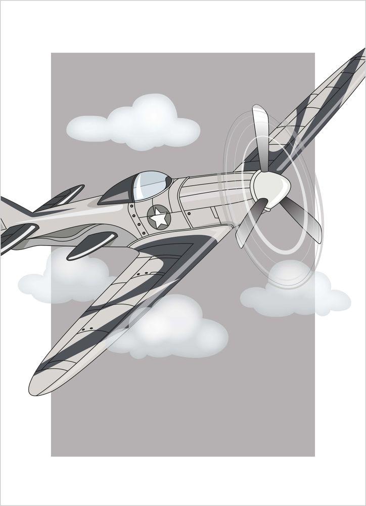 Flygplan i luften poster