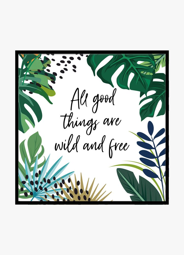 All good things text poster