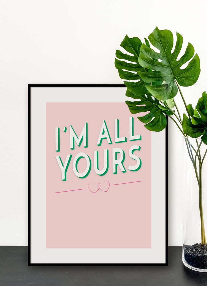 I am all yours poster