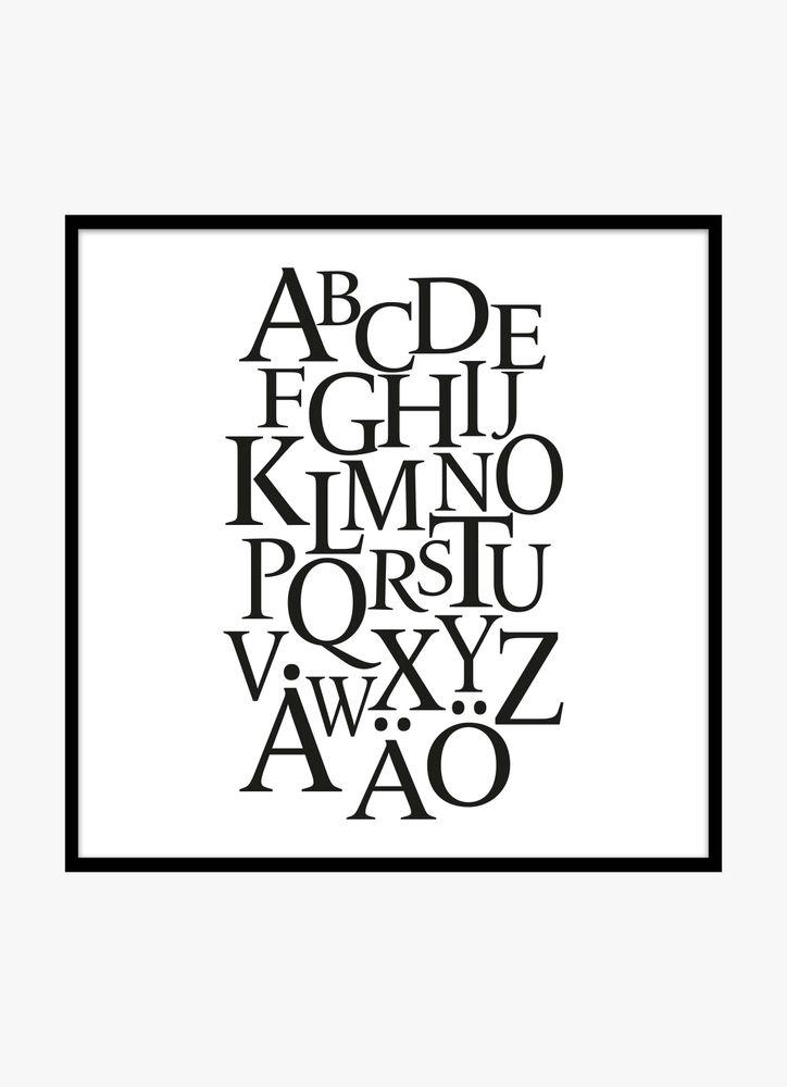 Alphabet black poster