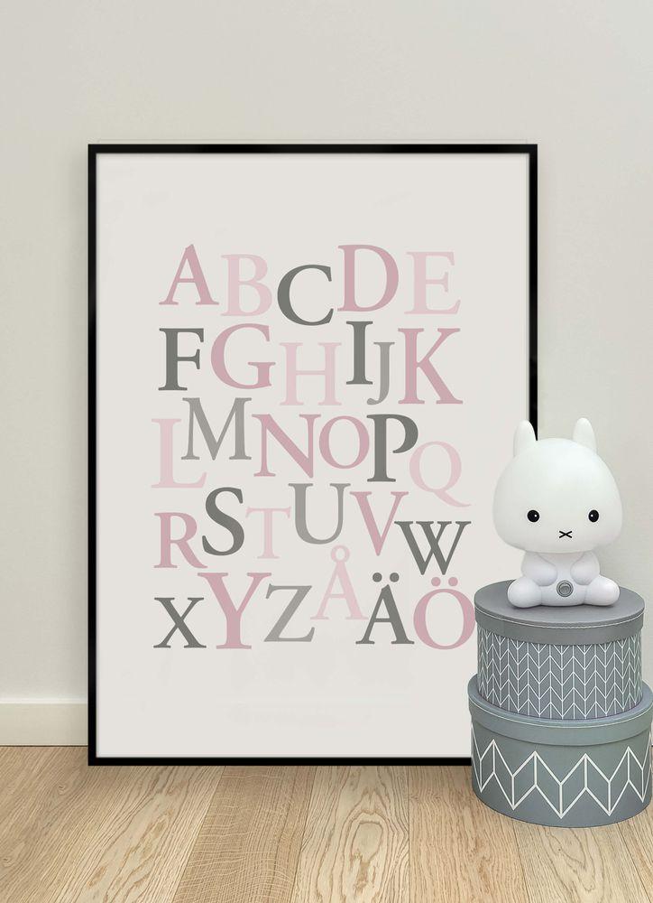 Alfabetet rosa poster