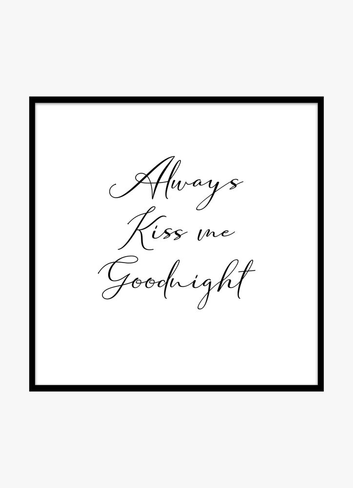 Always kiss me text poster