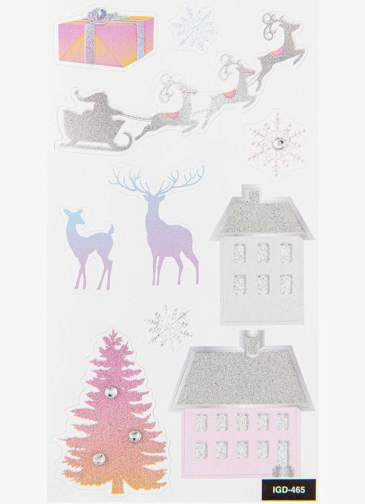 Klistermärken jul Pastell