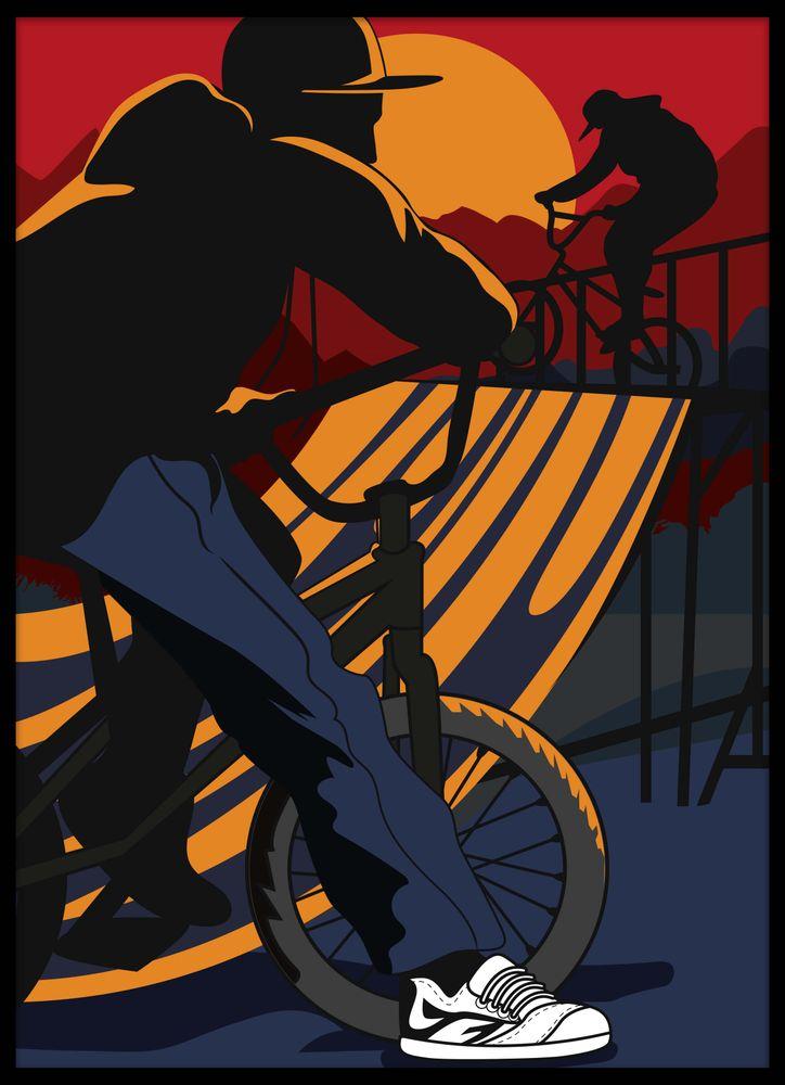BMX cykel park poster