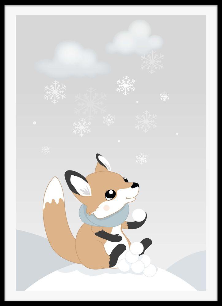 Rävunge vinter poster