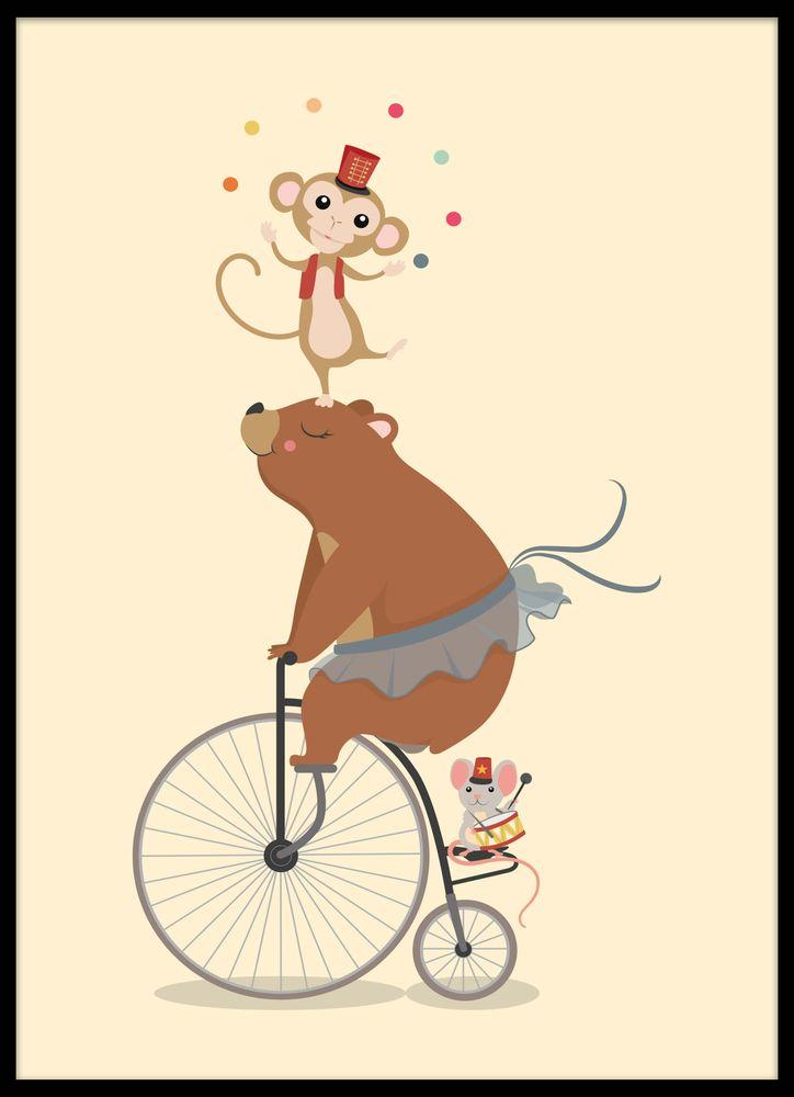 Bear at the circus poster