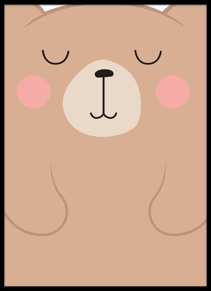 Tecknad björn poster