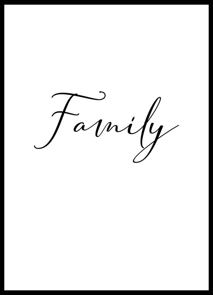 Familj poster