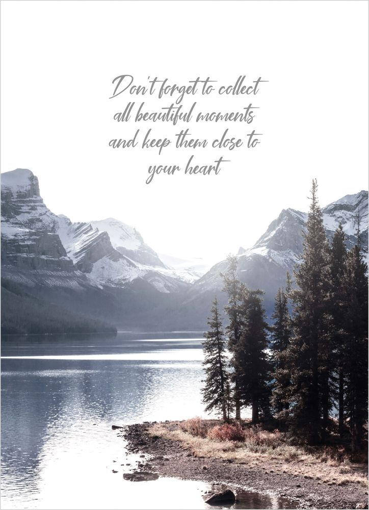 Beautiful moments text poster