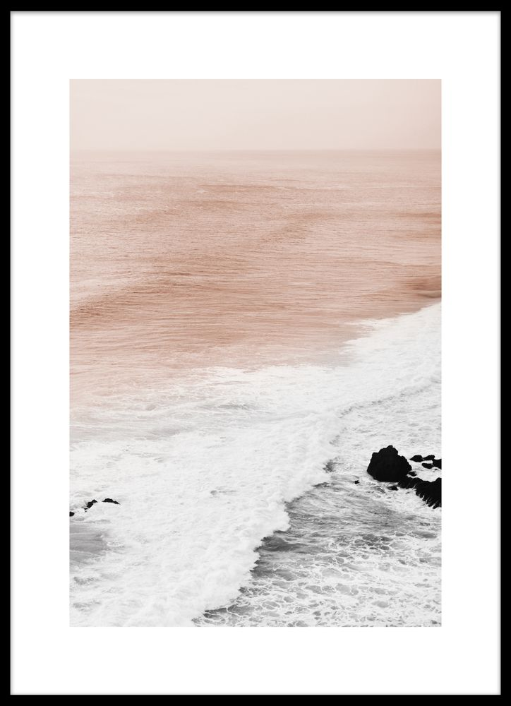 Beautiful waves poster