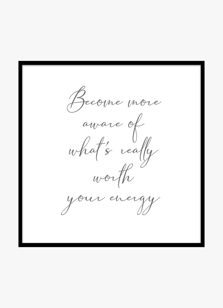 Become more aware text poster
