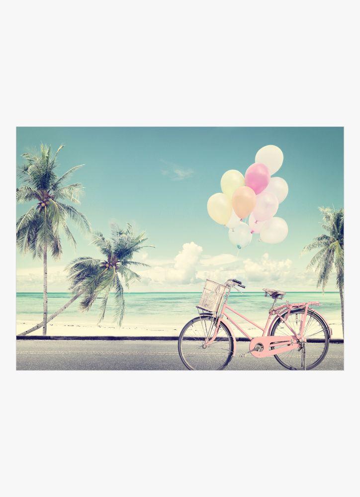 Cykel med ballonger poster