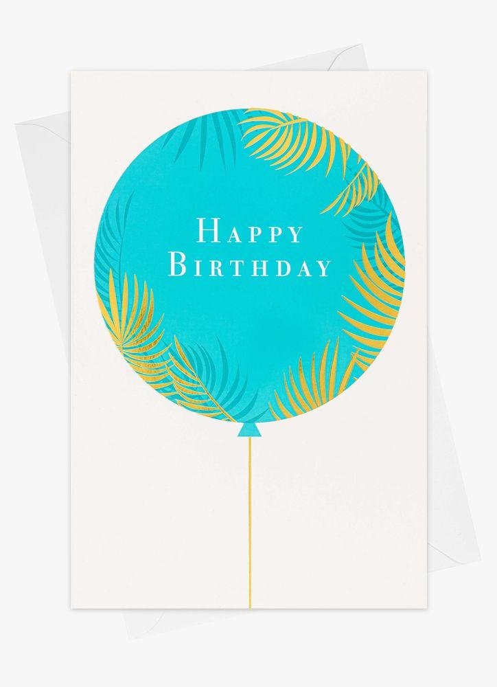 Ballong happy birthday gratulationskort