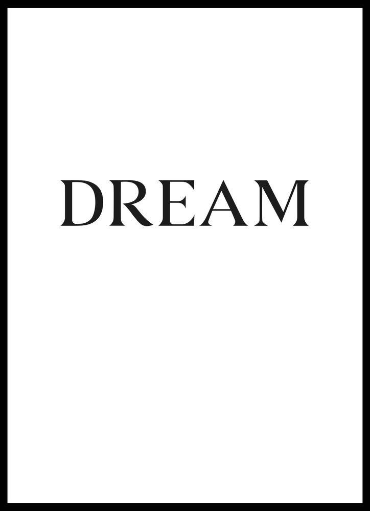 Big dream text poster