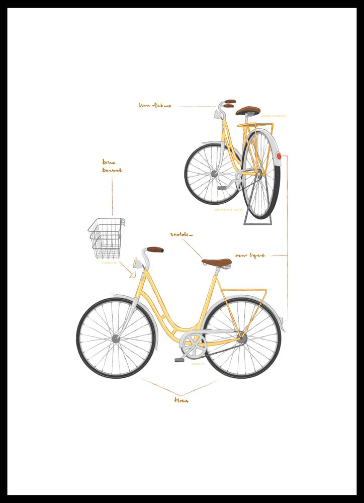 Instruktion cykel poster