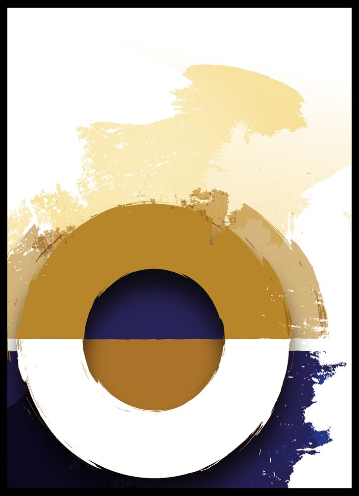 Mönster blå & orange nr3 poster