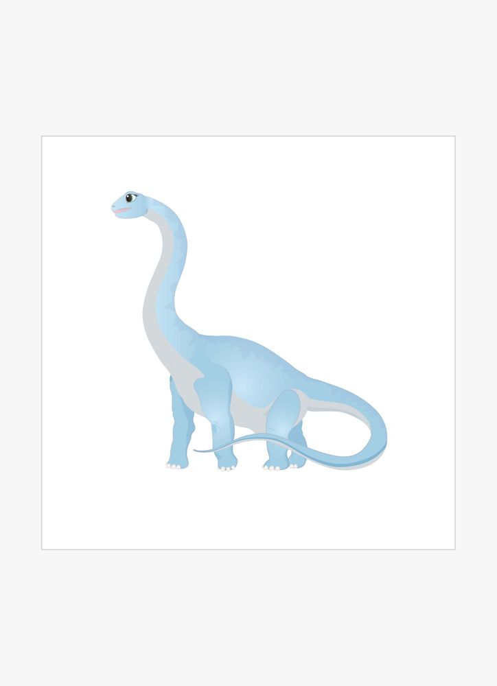 Blå brontosaurus dinosaurie poster
