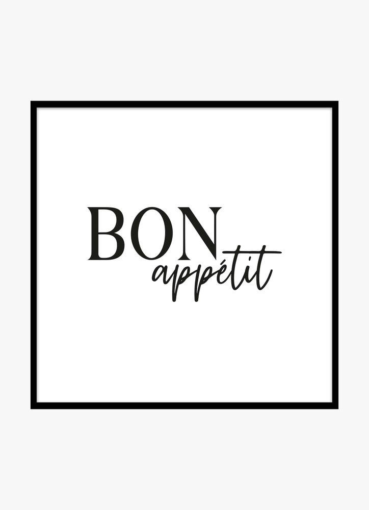 Bon appetit black text poster