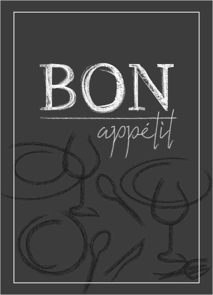 Bon appetit text poster
