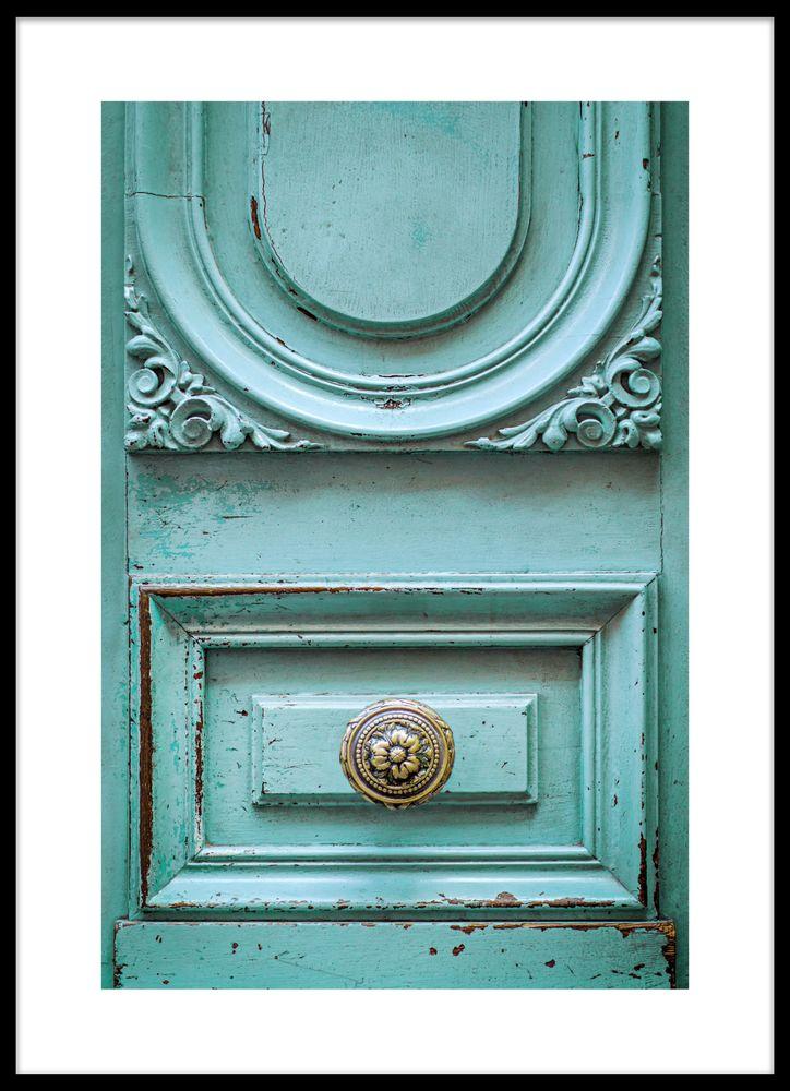 Mässing dörr poster